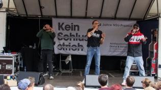 Die Antilopen Gang ist Teil des musikalischen Programms.